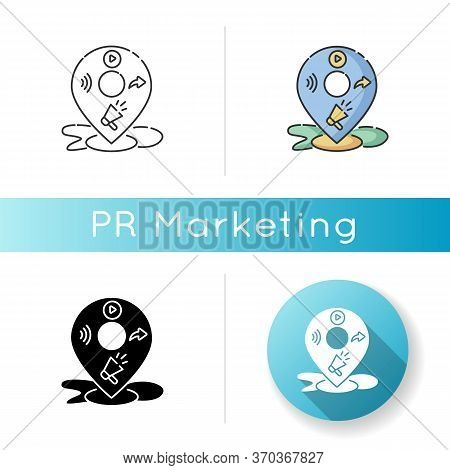Local Mass Media Icon. E Commerce Strategy. Seo Service For Company Marketing Plan. Geo Location Tag