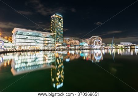 Sydney, Australia - Nov 14, 2017 : View Of Darling Harbour Bay, Cbd, Business And Recreational Arcad