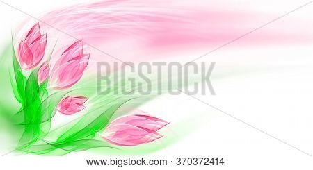 Floral romantic tender background, beautiful abstract flowers