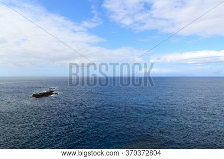 Atlantic Ocean Panorama With La Gomera In The Background On Canary Island Tenerife, Spain