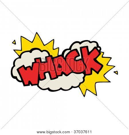 cartoon whack symbol