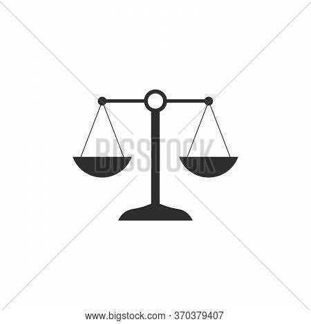 Simply Weight Icon. Compare Logo Symbol. Scales Judgment Pictogram. Stock Vector Illustration Isolat