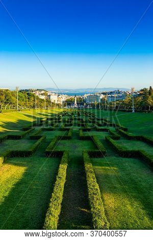 Eduardo Vii Park Located In City Of Lisbon, Portugal