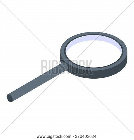 Glass Magnifier Icon. Isometric Of Glass Magnifier Vector Icon For Web Design Isolated On White Back