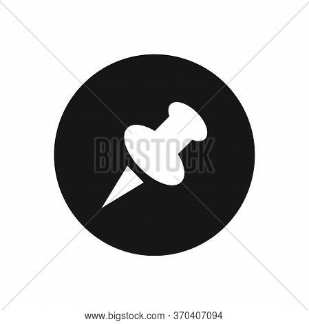 Push Pin Icon Isolated On White Background. Push Pin Icon In Trendy Design Style For Web Site And Mo