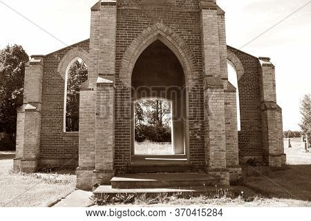 Ruins Of Catholic Church Built In 1883 And Closed 1952 Left As Tribute To Congregation Near Chesley