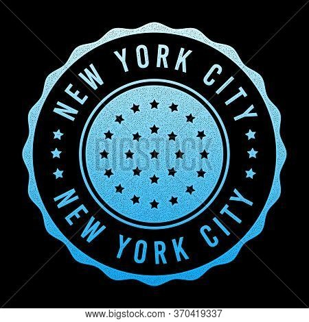 Vector Retro Illustration On The Theme Of Nyc. Urban. Stylized Vintage Gradient Grunge Typography, B