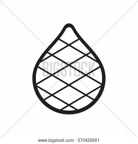 Salak Or Snake Fruit, Line Art Style Vector Illustration, Tropical Fruit Icon Design