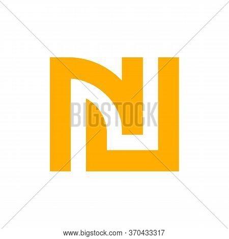 Letter Nj Logo, Initial Jn Monogram Logo Design - Vector