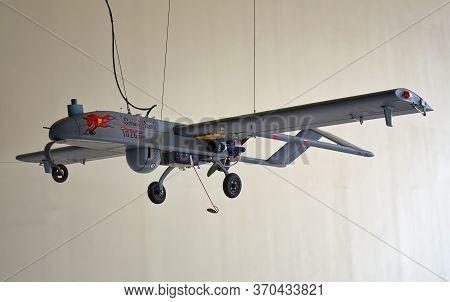 Washington, D.c., Usa - November 12, 2017: Unmanned Aerial Vehicle Aai Rq-7 Shadow Is On Display In