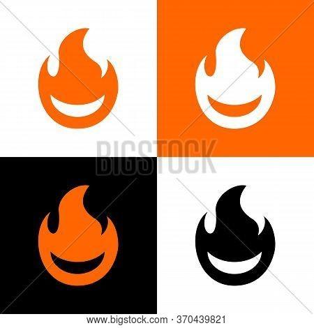 Abstract Fire Logo Design Template, Flame Icon Design, Ignite Symbol Vector