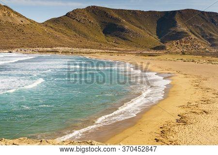 Beach El Playazo, Cabo De Gata Nijar Natural Park, Province Almer