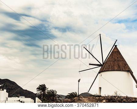 Wind Mill In Las Negras, Spain
