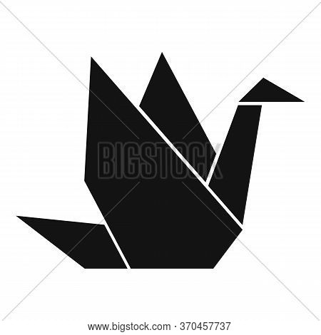 Japanese Origami Bird Icon. Simple Illustration Of Japanese Origami Bird Vector Icon For Web Design