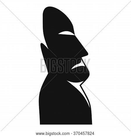 Moai Statue Icon. Simple Illustration Of Moai Statue Vector Icon For Web Design Isolated On White Ba