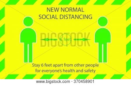 Icon People Concept New Normal Stay 6 Feet Apart From Other People, The Practices Put In Place To En