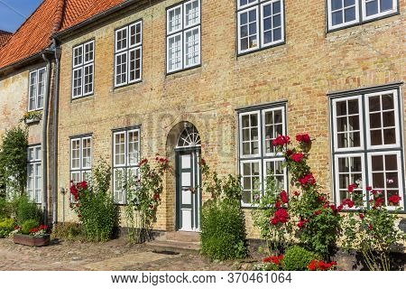 Facade Of The Historic St. Johannis Monastery In Holm Quarter Of Schleswig, Germany