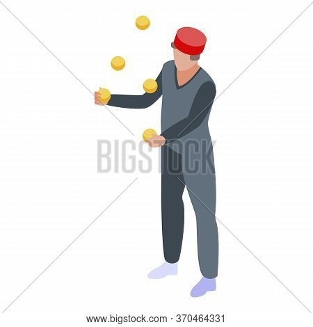 Circus Juggler Icon. Isometric Of Circus Juggler Vector Icon For Web Design Isolated On White Backgr