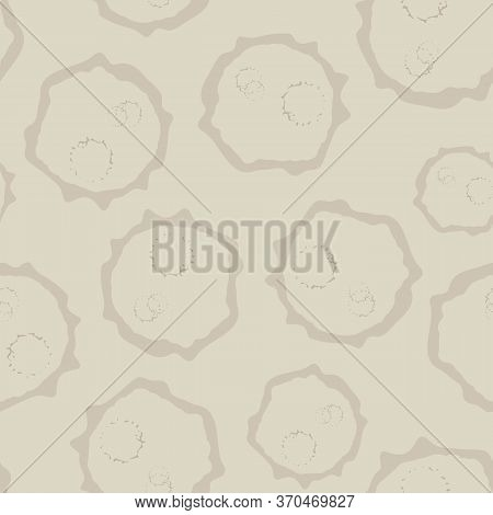 Abstract Moon Crater Vector Seamless Pattern Background. Naive Style Hand Drawn Asteroid Imprints Sa