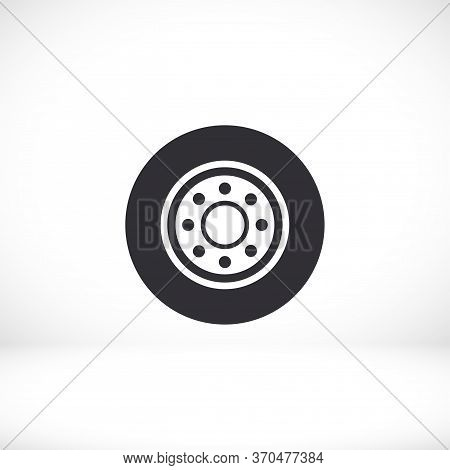 Freight Tyre - Wheel Car Icon Vector Eps 10. Car Wheel Drive Design Flat Illustration
