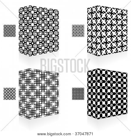 Seamless abstract pattern. Vector packaging box.