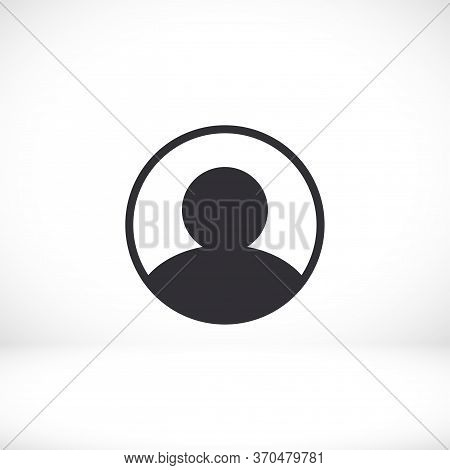 User Icon In Trendy Flat Style Isolated On Head Background. User Silhouette Symbol For Your Website