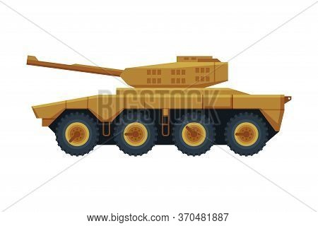 Armored Infantry Vehicle, Heavy Special Machinery Flat Vector Illustration