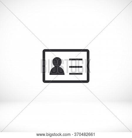Identification Card Outline Icon Isolated On Background. Identification Card , Identification Card L