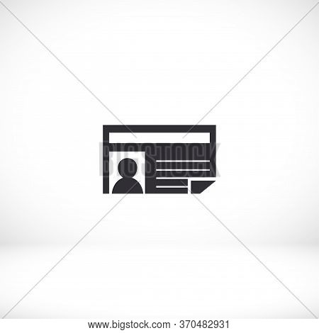 News Icon Vector Eps 10 Lorem Ipsum Flat Design Information Daily Business Daily Article