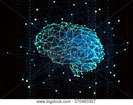 Artificial Intelligence And Machine Learning Concept. Neural Networks, Big Data And Robotic In Busin
