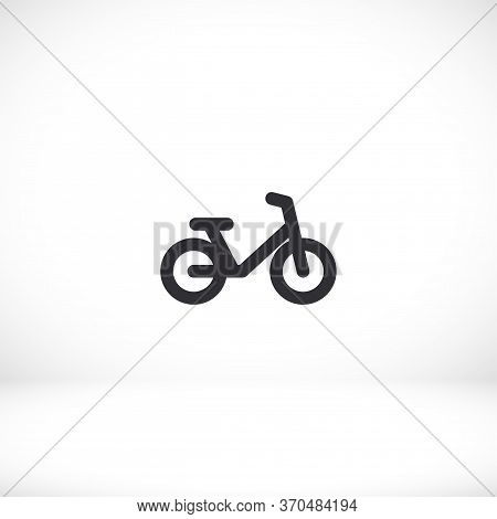 Bike Icon. Transportation Vehicles. Led Icon. Bike In A Flat Style. Bike Icon. 10 Eps Vector Graphic
