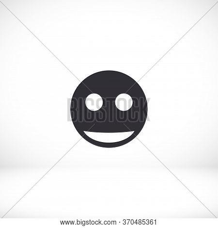 Smile Icon. Smile For Your Website And Phone. Joy On The Face. Joyfully. Evidence. Eps 10 Emoticon V