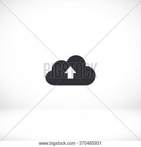 This Image Represents A Cloud Download Icon. Download To The Cloud. Eps 10 Vector. Flat Cloud Design