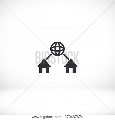 Network Vector Icon. Network Flat Design Flat Design Icon. Network For Your Use For Your Purposes An