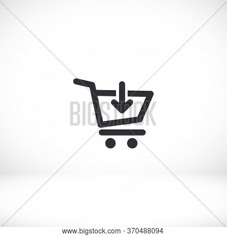 Add To Cart Icon. Basket. Add. Download. Shopping. Vector Eps 10. Flat Design. The Work Is Done For