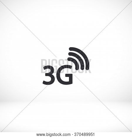 3g Outline Icon Isolated On A Beautiful Background. 3g Symbol For Website Design, Mobile App, Logo,