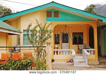 Camiguin, Ph - February 3 - Pabualan Cottage Facade On February 3, 2013 In Camiguin, Philippines.