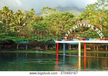 Camiguin, Ph - Bura Soda Water Park Swimming Pool On February 3, 2013 In Camiguin, Philippines.