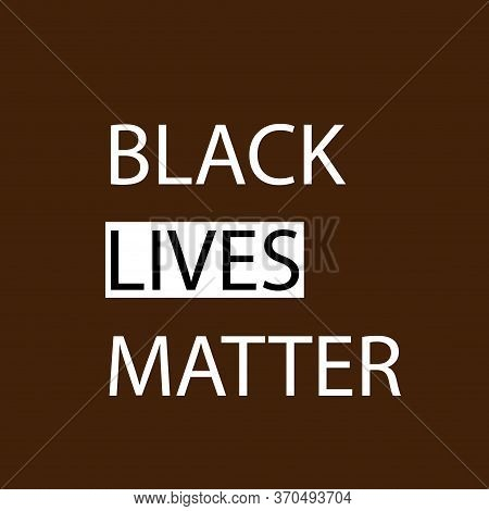 Black Lives Matter (blm) Graphic Illustration For Use As Poster To Raise Awareness About Racial Ineq