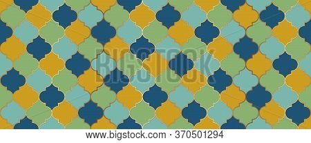 Ottoman Mosque Window Shape. Eid Mubarak Islam Decoration. Moroccan Seamless Design Seamless Morocca
