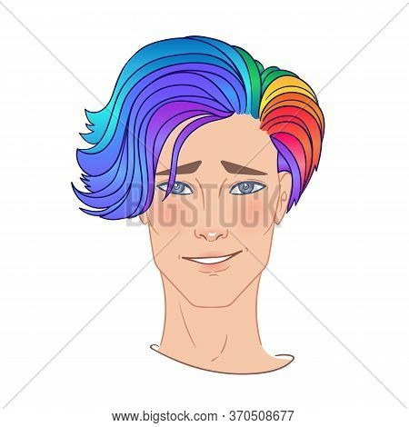 Stosck-500x500-1algbt Person With Rainbow Hair. Non Binary Caucasian Person. Gay Pride. Lgbtq Concep