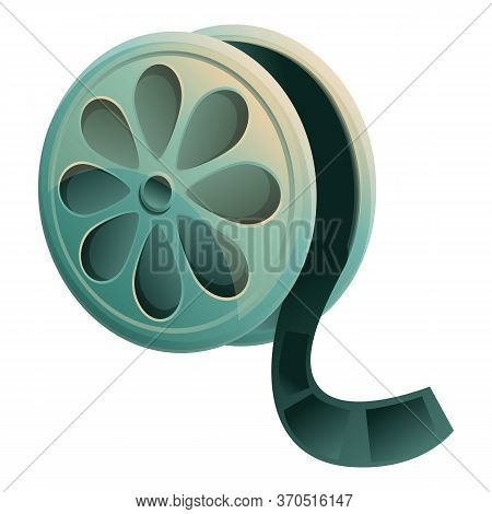Cinema Film Reel Icon. Cartoon Of Cinema Film Reel Vector Icon For Web Design Isolated On White Back