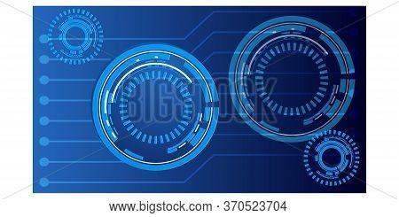 Blue Technology Background.digital Technology Banner Blue Background.technology Connection Digital D