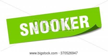 Snooker Sticker. Snooker Square Sign. Snooker. Peeler