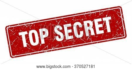 Top Secret Stamp. Top Secret Vintage Red Label. Sign