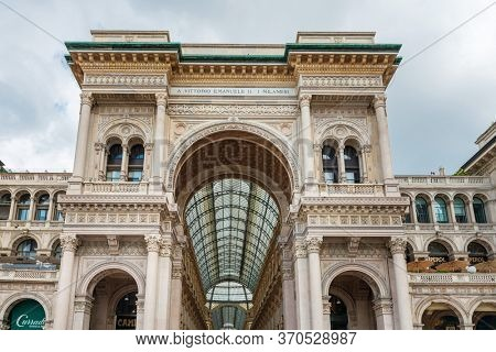 MILAN, ITALY - May 29, 2018: Galleria Vittorio Emanuele II shopping mall, Milan, italy.