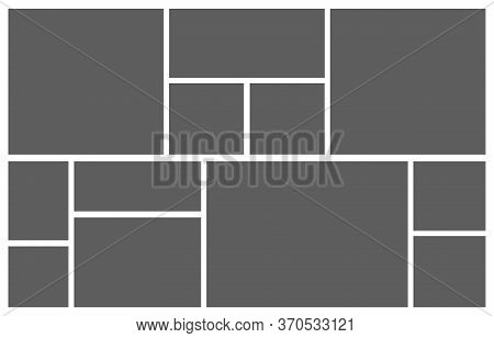 Collage Grid. Mood Board Photo Mosaic. Photomontage Vector Illustration.