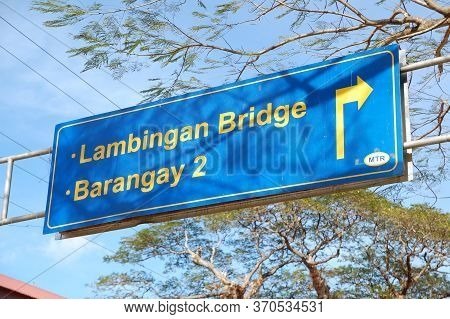 Palawan, Ph - March 6 - Lambingan Bridge Sign On March 6, 2012 In Coron, Palawan, Philippines.