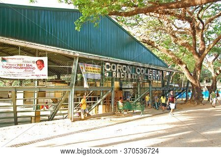 Palawan, Ph - March 7 - Coron Coliseum And Recreation Center Facade On March 7, 2012 In Coron, Palaw