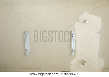 Place In Wall For Heating Radiator With Adjuster Of Warming In Living Room.